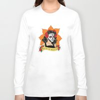 dia de los muertos Long Sleeve T-shirts featuring Dia de los Muertos by Karen Vaughan