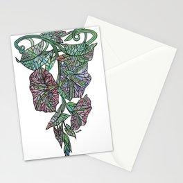 Art Nouveau Morning Glory Isolated Stationery Cards