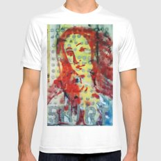 VENUS IN DOTS AND SHIRT Mens Fitted Tee White MEDIUM
