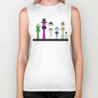 giraffes Biker Tanks featuring Giraffes by jozi.art