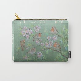 Singing birds & Blossom Carry-All Pouch