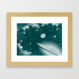 Monochromatic Space Framed Art Print