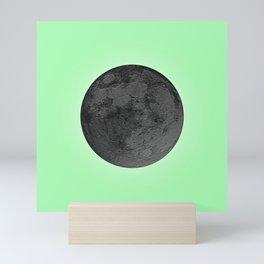 BLACK MOON + LIME GREEN SKY Mini Art Print