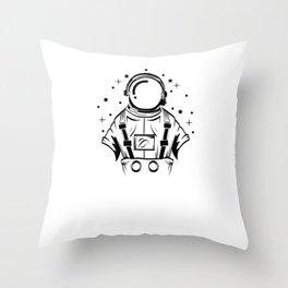Are You A Fan Of Astronomy? An Astronaut Dreamer? Here's An Antronaut Inside A Bulb T-shirt Ideas Throw Pillow