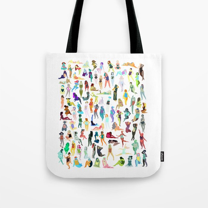 100 tiny ladies Tote Bag