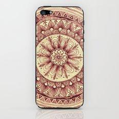 mandala: maroon iPhone & iPod Skin