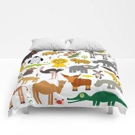 Animal Africa: parrot Hyena Rhinoceros Zebra Hippopotamus Crocodile Turtle Elephant Mamba snake Comforters