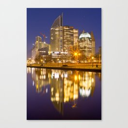 City of The Hague, The Netherlands at night Canvas Print