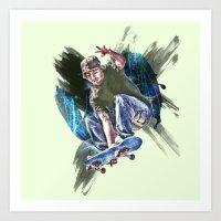 sk8 life Art Print