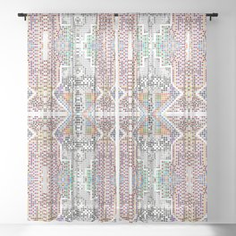 Realm of patterns Sheer Curtain