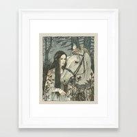 nan lawson Framed Art Prints featuring enmeshed in Nan Elmoth by Liga Klavina