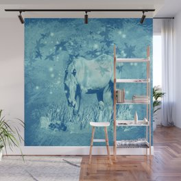 Horse and faerie lights Wall Mural