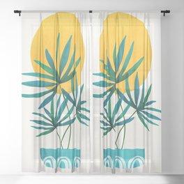 Little Palm + Sunshine Sheer Curtain
