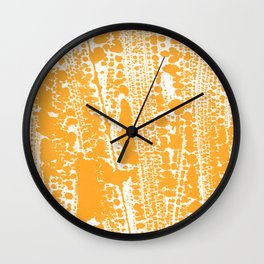 Orange creamsicle Splatter Splash Decor Wall Clock
