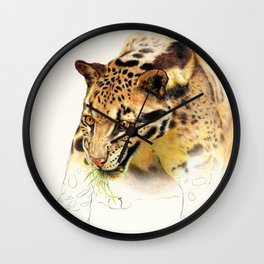 Clouded Panther Wall Clock