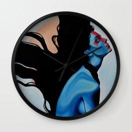 Lady Hellshock: barbaric paladin Wall Clock