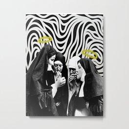 Smokin' w Sister Metal Print