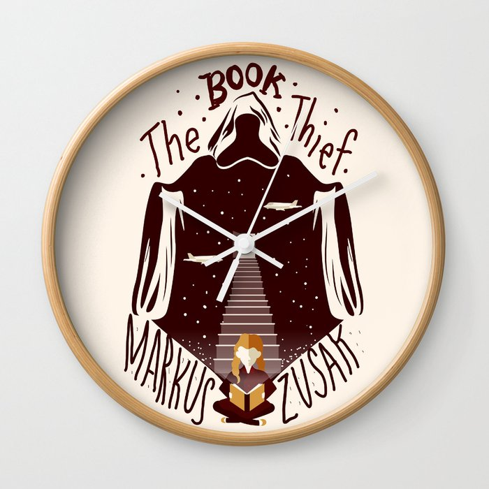 The Book Thief Wall Clock By Risarodil Society6