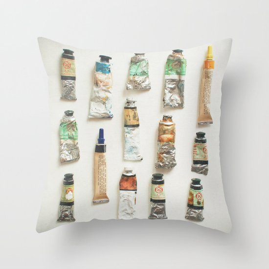 Oils Throw Pillow