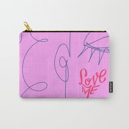 Love Me in Pink Carry-All Pouch