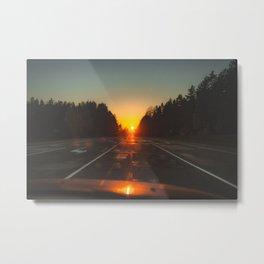 Orange Sun. || Sunset Sky. || Road Trip Shots. || Adventure. || MadaraTravles. Metal Print