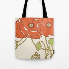 Graphic Poppies Tote Bag