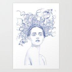 Blue Summer Art Print