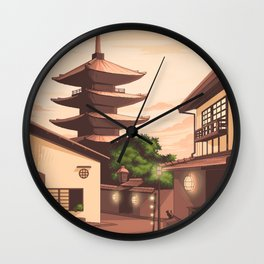 Pixel Japan Wall Clock