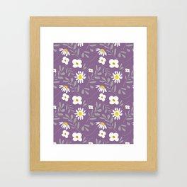 Joyful Folk Floral : Purple Framed Art Print