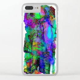 Glowing Poetry Clear iPhone Case