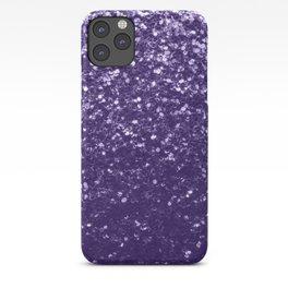 Dark ultra violet purple glitter sparkles iPhone Case