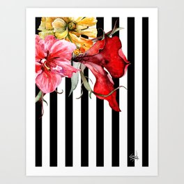 FLORA BOTANICA | stripes Art Print