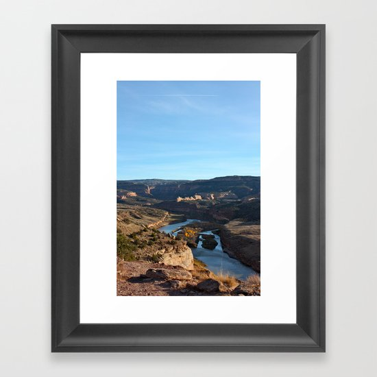 Colorado River From the Bicycle 2 Framed Art Print