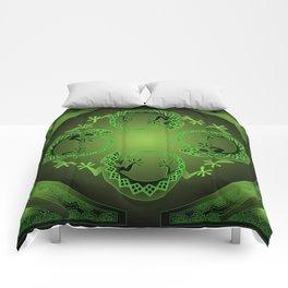 Vintage Green Gecko Comforters