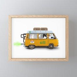 Methane powered Framed Mini Art Print