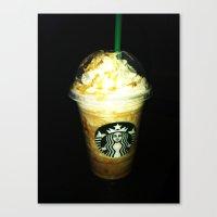starbucks Canvas Prints featuring Starbucks by bobbierachelle