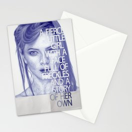 Fierce little girl Stationery Cards