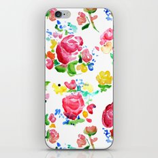 Watercolor Roses iPhone & iPod Skin