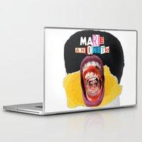 marie antoinette Laptop & iPad Skins featuring Marie Antoinette by Genco Demirer