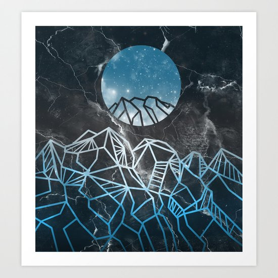 galaxy landscape 2 Art Print