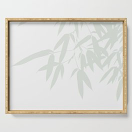 Leaves #Bamboo #Grey Serving Tray