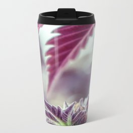 Covered in Cannabis marijuana plant weed photograph Metal Travel Mug