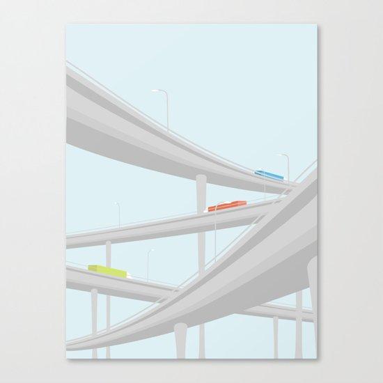 MOTORVEJSKRYDS Canvas Print