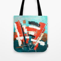 skyline Tote Bags featuring Skyline by Rafael Galue
