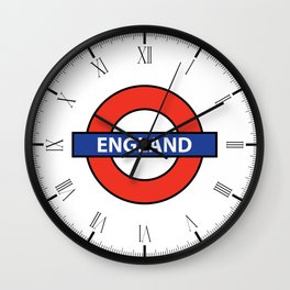 England Underground Sign Wall Clock