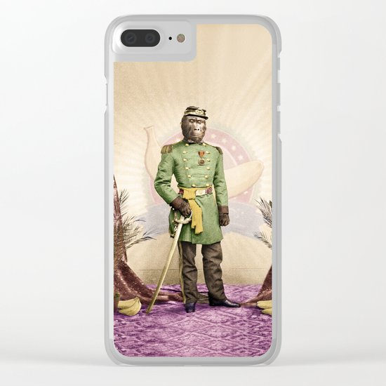 General Simian of the Glorious Banana Republic Clear iPhone Case