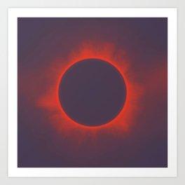 Solar Eclipse in Martian Colors Kunstdrucke