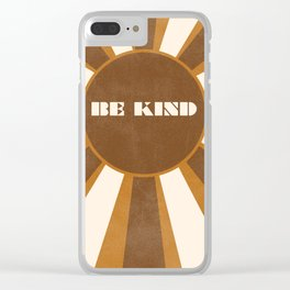 Be Kind brown Clear iPhone Case