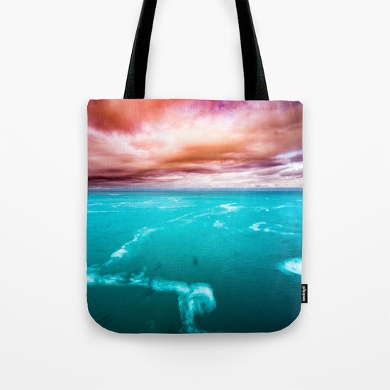 Ocean Blue I CAN SEE CANADA! Coast pnw teal wanderlust adventure wander water turquoise nature Tote Bag
