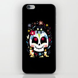 Cat,Candles and skull iPhone Skin